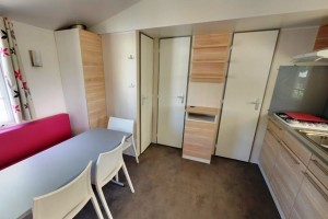 Mobil-home 3 chambres 6 personnes climatisé camping le galet marseillan-plage