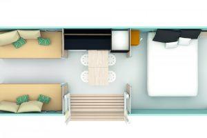 coco sweet plan vue générale bungalow toilé