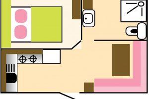 mobil-home 1 chambre